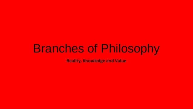 Major fields of philosophy