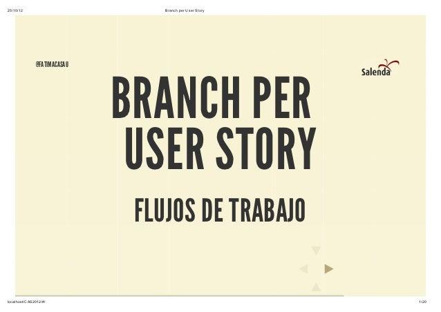 25/10/12                         Branch per User Story              @FATIMACASAU                             BRANCH PER   ...