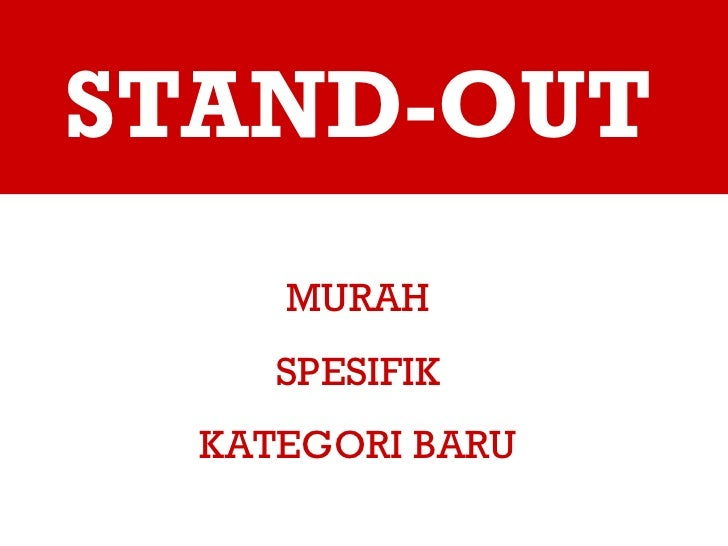 STAND-OUT MURAH SPESIFIK KATEGORI BARU