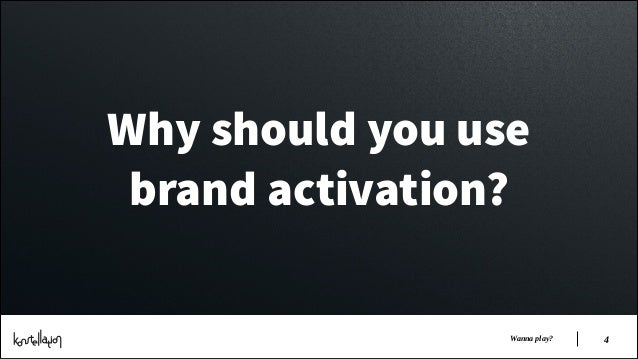 Why should you use brand activation? Wanna play?  !4