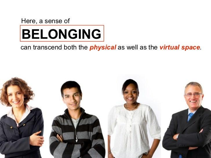 how to create a sense of belonging