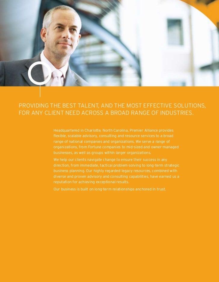 Premier Alliance Company Brochure