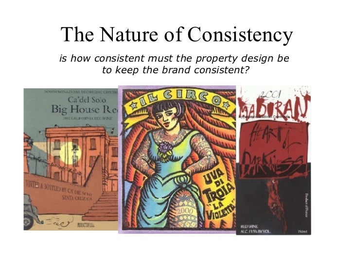 The Nature of Consistency is how consistent must the property design be  to keep the brand consistent?
