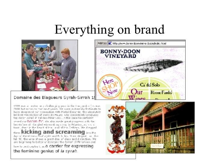 Everything on brand