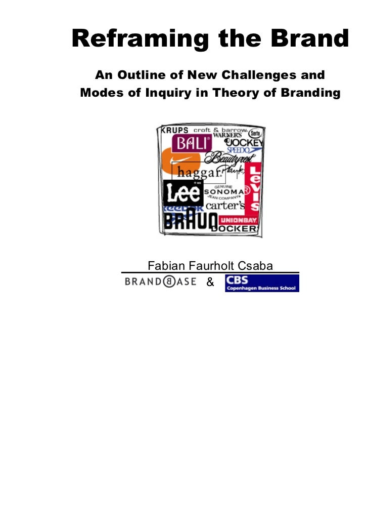 Reframing the Brand An Outline of New Challenges andModes of Inquiry in Theory of Branding         Fabian Faurholt Csaba  ...