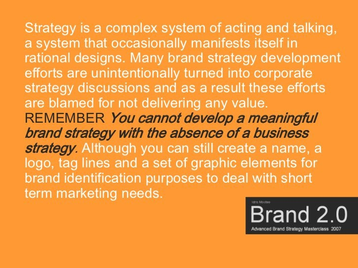 Strategy is a complex system of acting and talking, a system that occasionally manifests itself in rational designs. Many ...