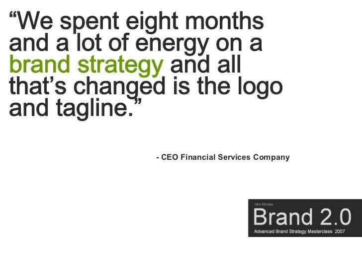 Brand Masterclass Week Two Slide 3