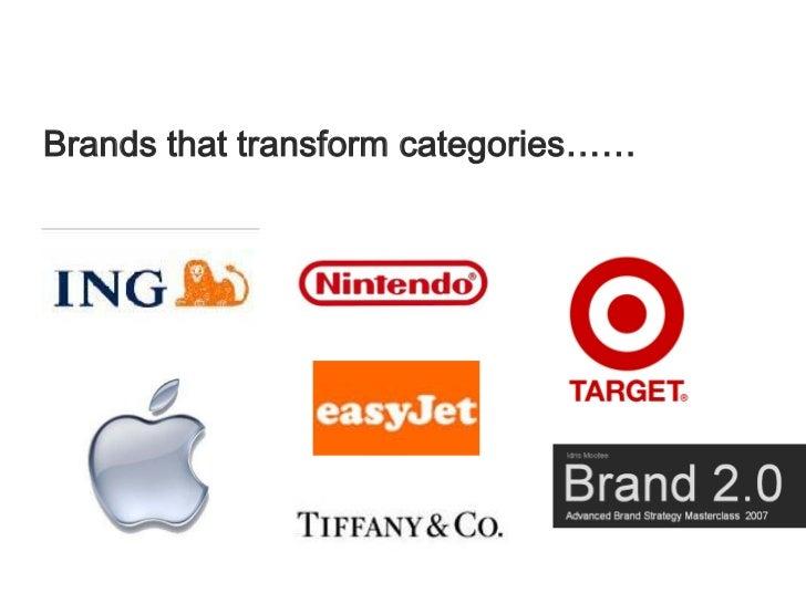 Brands that transform categories……