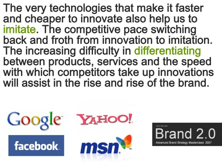 The very technologies that make it faster and cheaper to innovate also help us to imitate. The competitive pace switching ...
