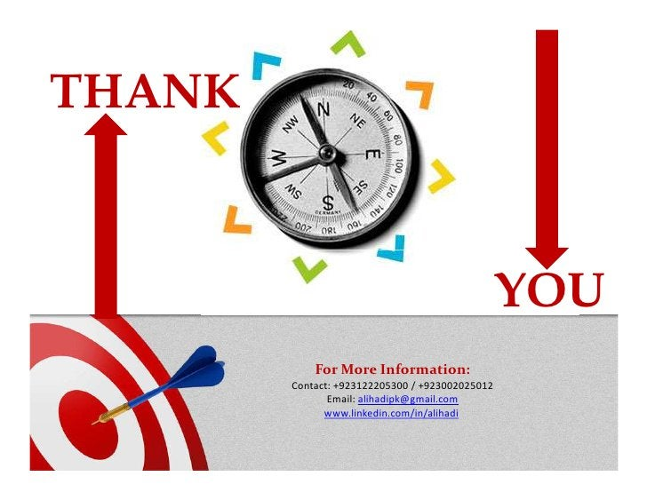 THANK                                                 YOU            For More Information:        Contact: +923122205300 /...