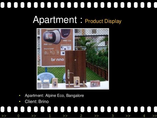 >> 0 >> 1 >> 2 >> 3 >> 4 >> Apartment : Product Display • Apartment: Alpine Eco, Bangalore • Client: Brino