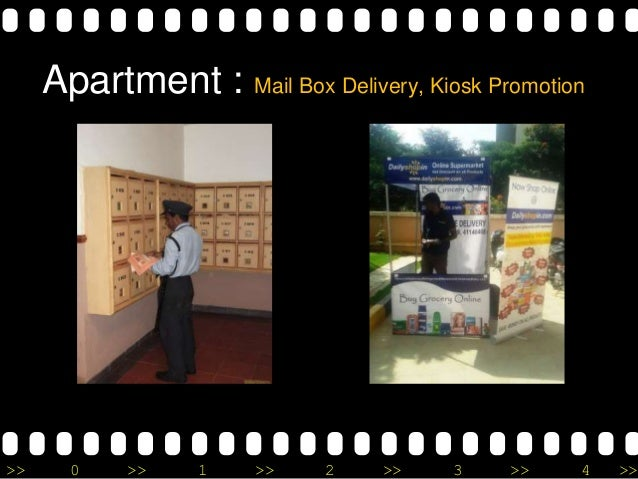 >> 0 >> 1 >> 2 >> 3 >> 4 >> Apartment : Mail Box Delivery, Kiosk Promotion
