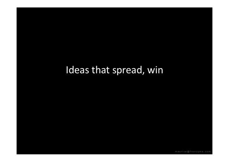 Ideasthatspread,win                               maurice@frenzyme.com