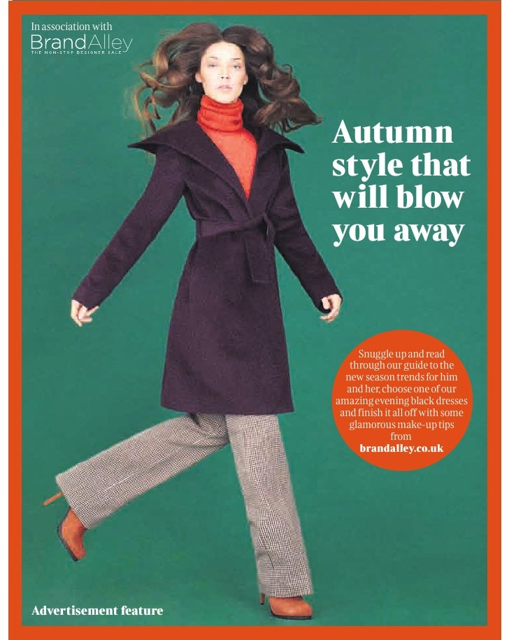 In association with                        Autumn                        style that                        will blow      ...