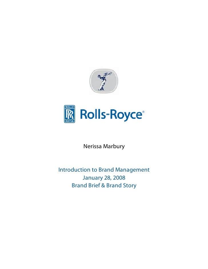 rolls royce brand analysis