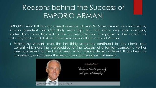 Brand Analysis of EMPORIO ARMANI,Louis Vuitton CALVIN KLEIN Slide 3
