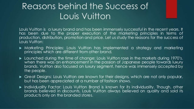 louis vuitton analysis Culture is the word at louis vuitton analysis out of the box art & business | for the past 15 years, luxury brands have infiltrated the worlds of art and culture to the point of becoming key players in this ecosystem through rejuvenation, communications or strategy, each luxury brand has incorporated or.