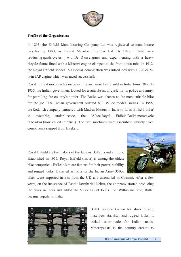 Brand Analysis Of Royal Enfield