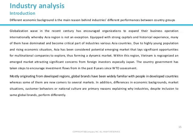 industry analysis sample
