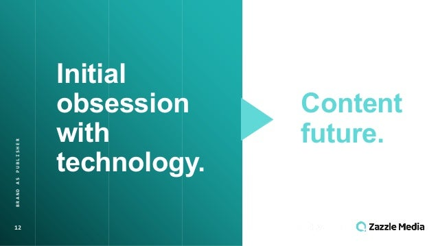 12 BRAND(AS(PUBLISHER Initial' obsession' with' technology. Content' future.