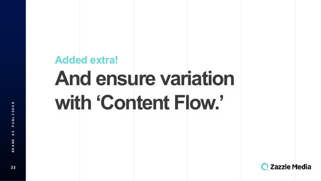 33 BRAND'AS'PUBLISHER Added$extra! And$ensure$variation with$'Content$Flow.'