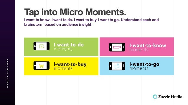 BRAND&AS&PUBLISHER Tap$into$Micro$Moments. I$want$to$know.$I$want$to$do.$I$want$to$buy.$I$want$to$go.$Understand$each$and$...