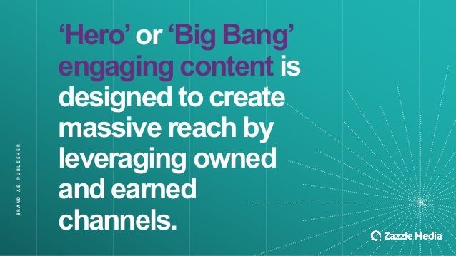 BRAND&AS&PUBLISHER 'Hero''or''Big'Bang'' engaging'content is' designed'to'create' massive'reach'by' leveraging'owned' and'...