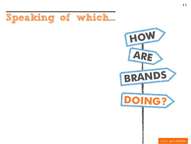 11 Speaking of which... HOW ARE BRANDS DOING?