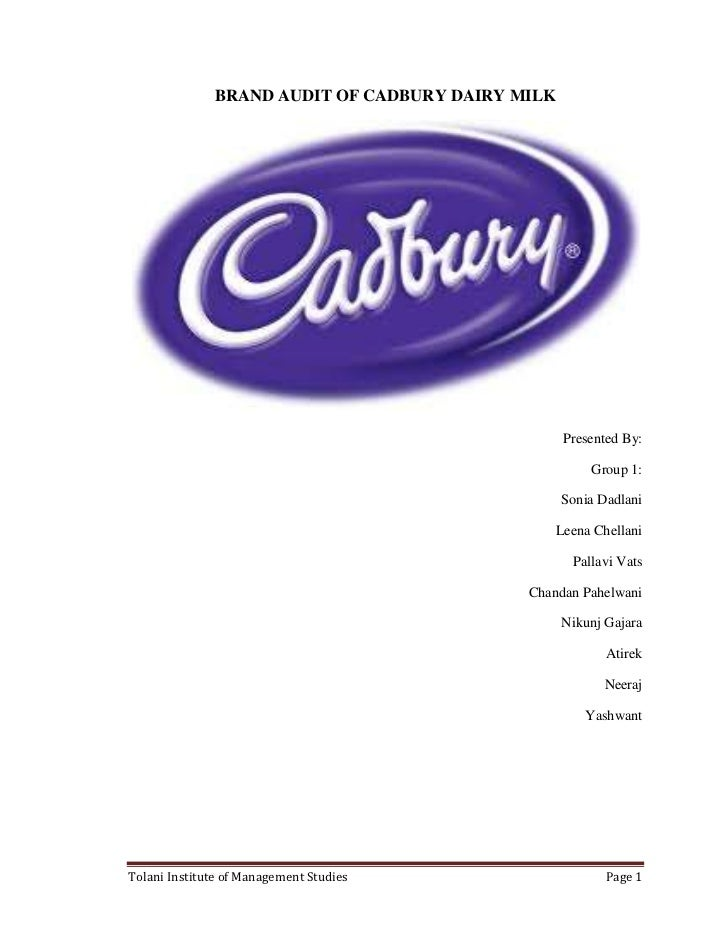 brand audit of cadbury dairy milk Cadbury india launched on wednesday 'purity sealed' dairy milk brand and has signed up filmstar amitabh bachchan as its brand ambassador.