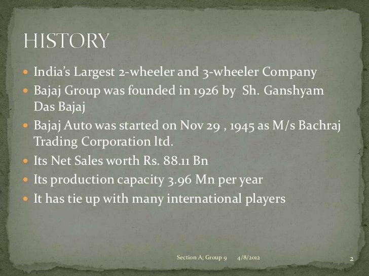Brand audit - Bajaj Auto Slide 2