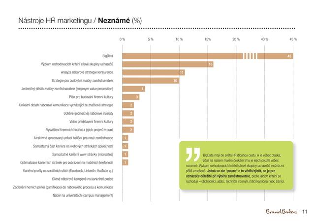 20 % 40 % 45 % BigData Výzkum rozhodovacích kritérií cílové skupiny uchazečů Analýza náborové strategie konkurence Strateg...