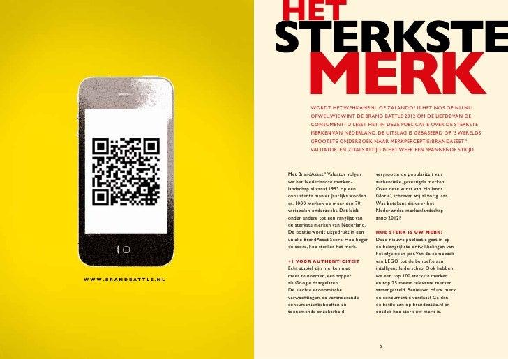 Brand Battle 2012 - De sterkste merken van Nederland Slide 3
