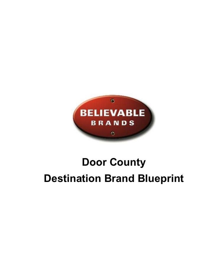 Door CountyDestination Brand Blueprint