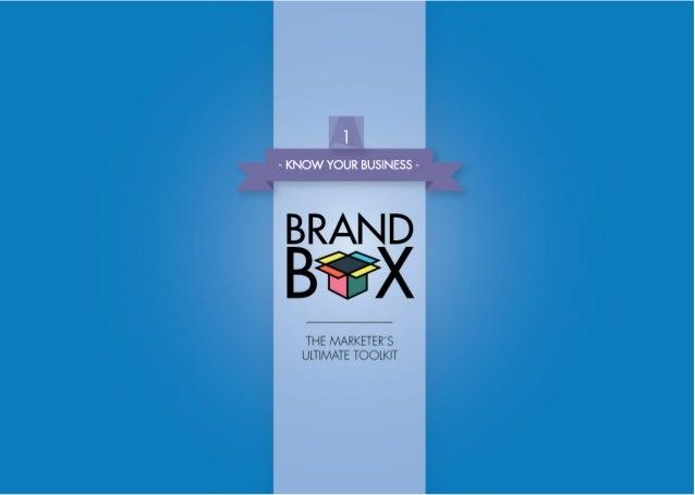 BRAND BOX Authors Ashton Bishop Jeffrey Cooper Editing Andrew Durack Adam Long Deanne Constantine Art Direction Ivan Langh...