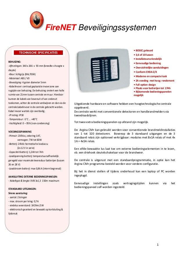 FireNET Beveiligingssystemen                                                                                              ...