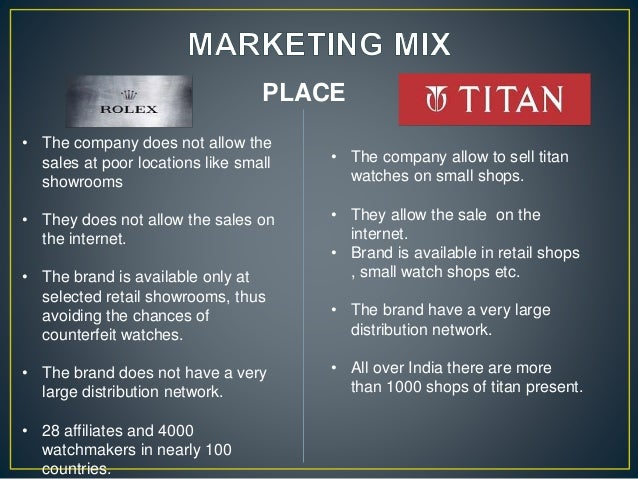 marketing mix of titan watches