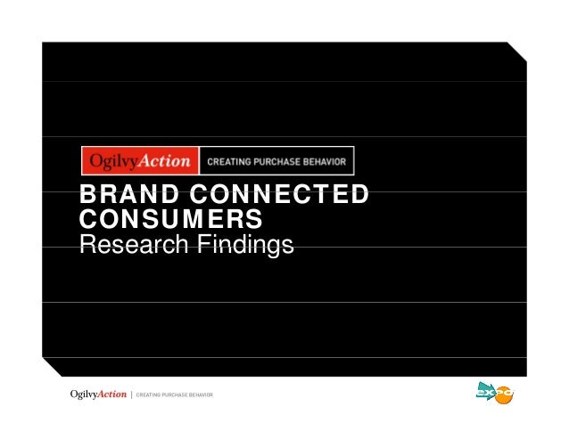 BRAND CONNECTEDCONSUMERSResearch Findings