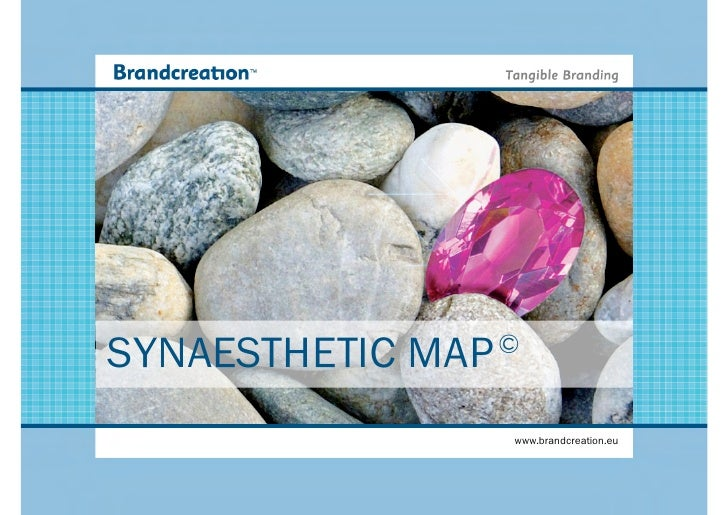 SYNAESTHETIC MAP   ©                      www.brandcreation.eu