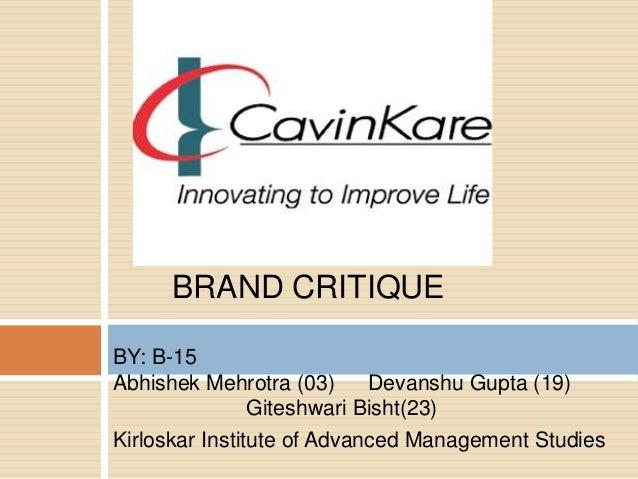 cavinkare case study analysis ppt