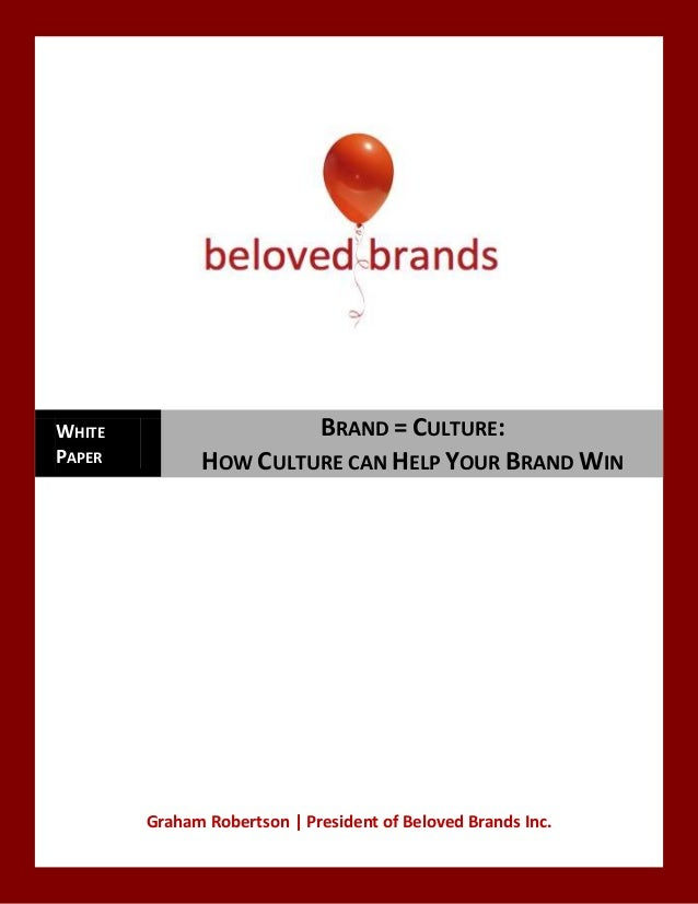 WHITE                  BRAND = CULTURE:PAPER         HOW CULTURE CAN HELP YOUR BRAND WIN        Graham Robertson | Preside...