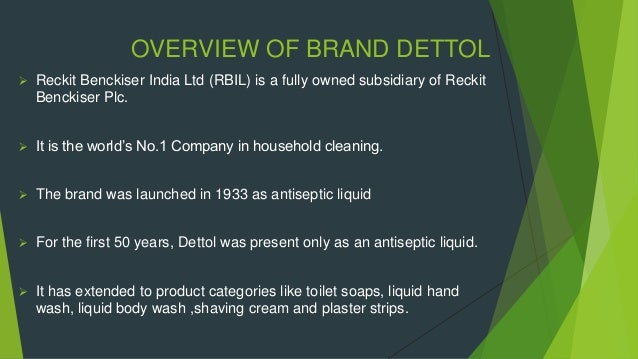 Brand positioning of dettol