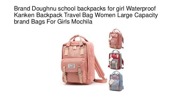 981aab8d66 Brand Doughnu school backpacks for girl Waterproof Kanken Backpack Travel Bag  Women Large Capacity brand Bags ...