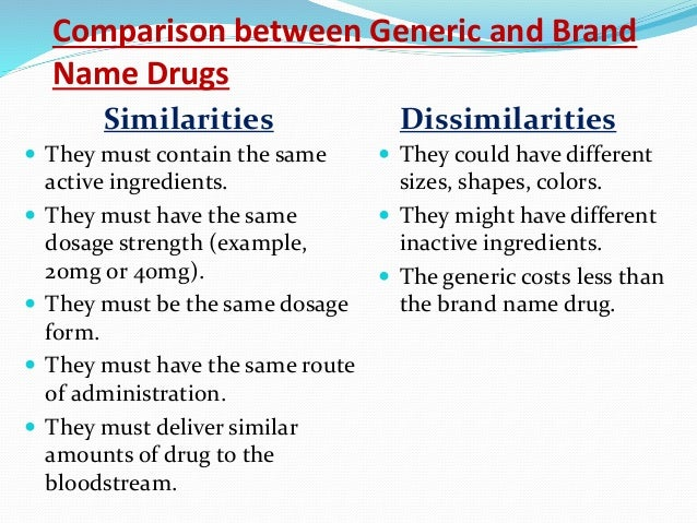 """generic vs name brand And you'll often see a drug's chemical name referred to as the """"generic name"""" or the """"non-proprietary"""" name, which i've (brand vs generic."""