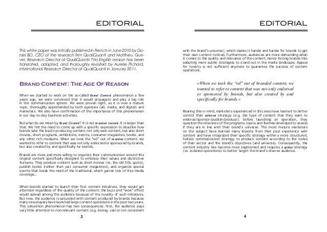 Brand(ed) content & Luxury Communications Slide 3
