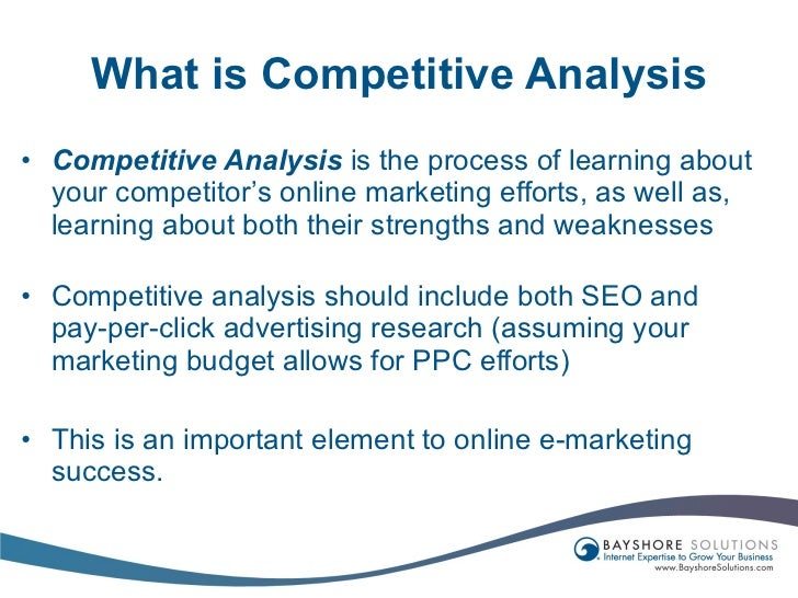 Use Competitive Analysis And Research In Your Internet Marketing Stra…