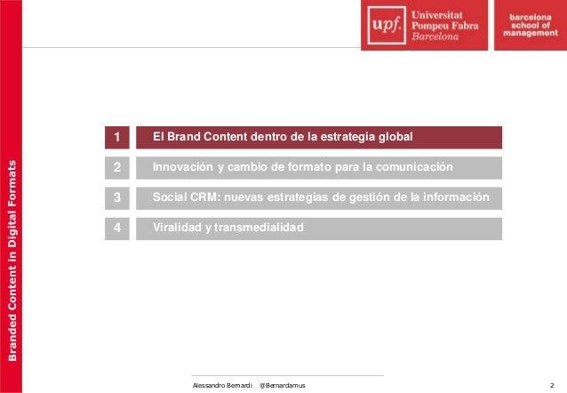 Branded content in digital media (I) Slide 2