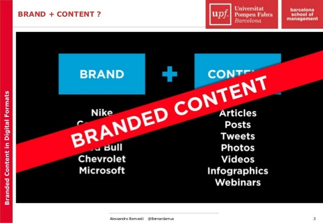 Branded content in digital media (I) Slide 3