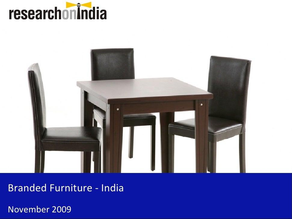Branded Furniture - India November 2009