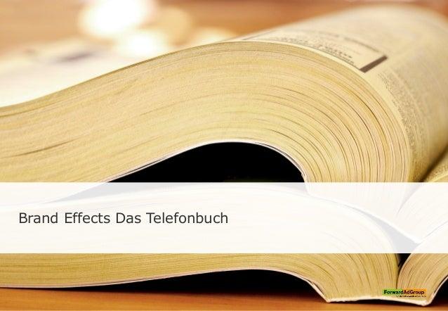 Brand Effects Das Telefonbuch