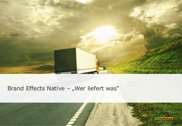 """Brand Effects Native – """"Wer liefert was"""""""
